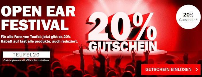 Teufel Gutschein - 20% Rabatt
