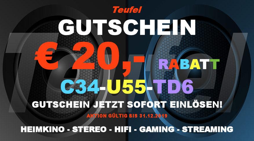 Teufel C34-U55-TD6 - Gutschein