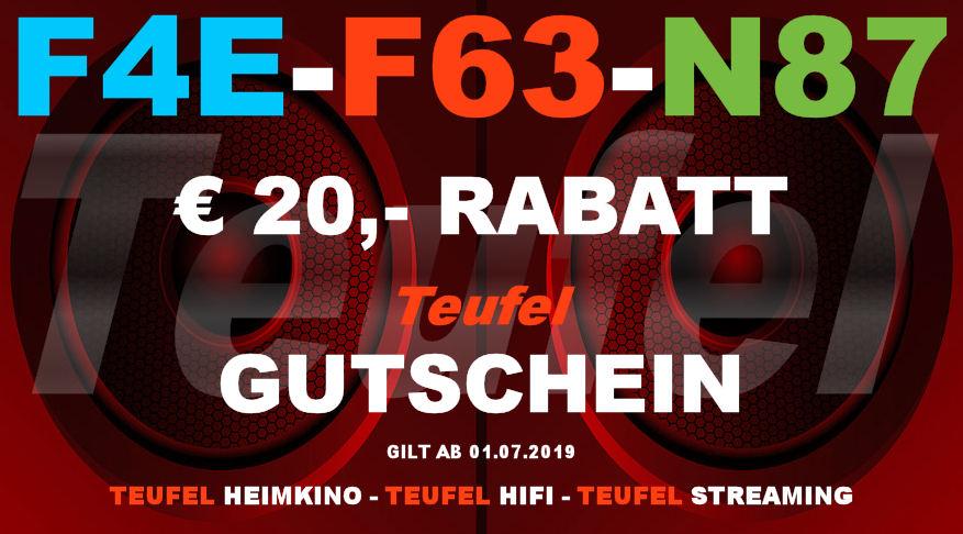 Teufel F4E-F63-N87 - Gutschein