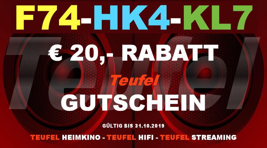 Teufel F74-HK4-KL7 - Gutschein