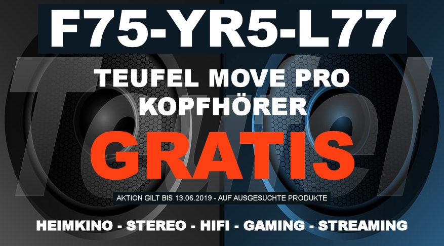 F75-YR5-L77 – Teufel-Gutschein: Kopfhörer MOVE PRO – GRATIS