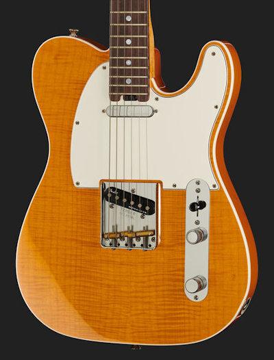 Fender Elite Tele FMT Amber RW NOS