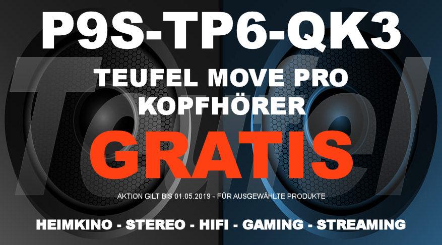 P9S-TP6-QK3 – Teufel-Gutschein: Kopfhörer MOVE PRO – GRATIS