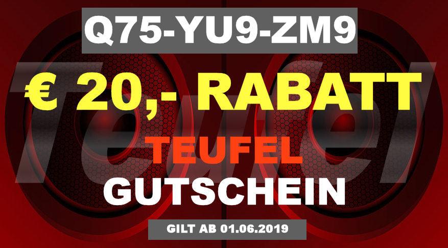 Teufel Q75-YU9-ZM9 - Gutschein