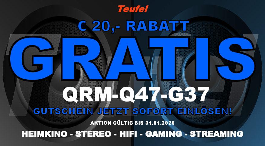 Teufel QRM-Q47-G37 - Gutschein