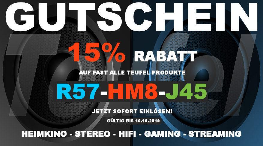 Teufel R57-HM8-J45 - Gutschein