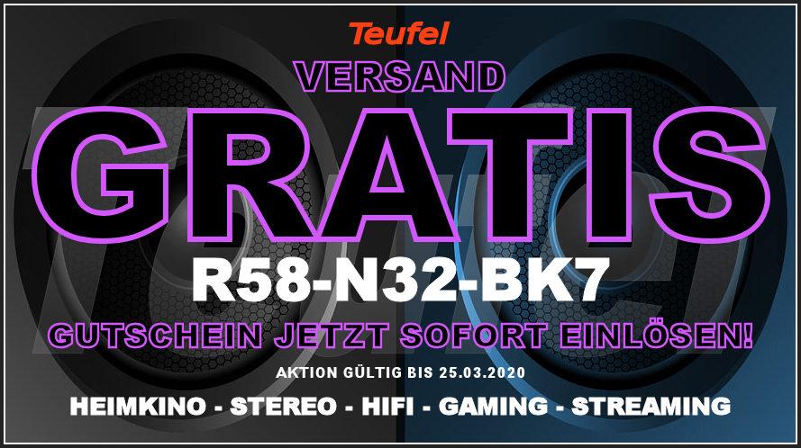 Teufel R58-N32-BK7 - Gutschein