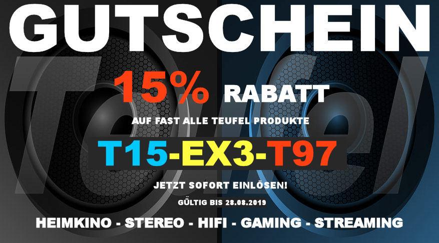 Teufel T15-EX3-T97 - Gutschein