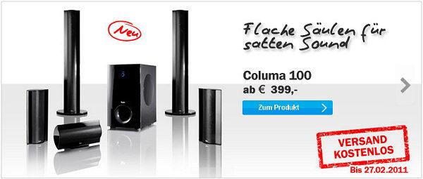 Columa 100 - Versand gratis bis 27.02.2011