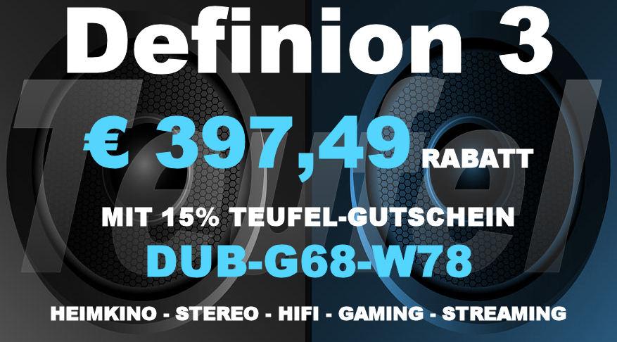 Teufel DUB-G68-W78 - DEFINION 3