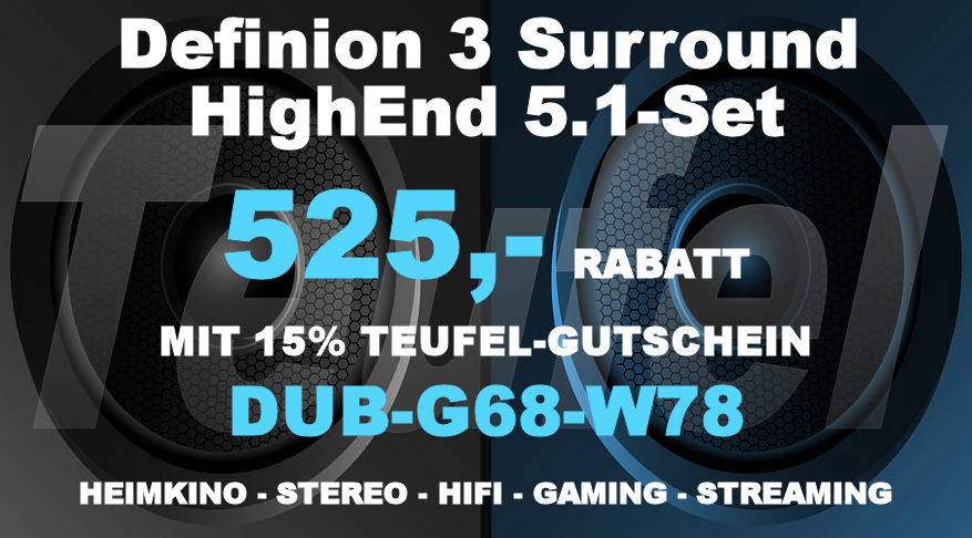 Teufel DUB-G68-W78 - Definion 3 Surround 5.1-Set