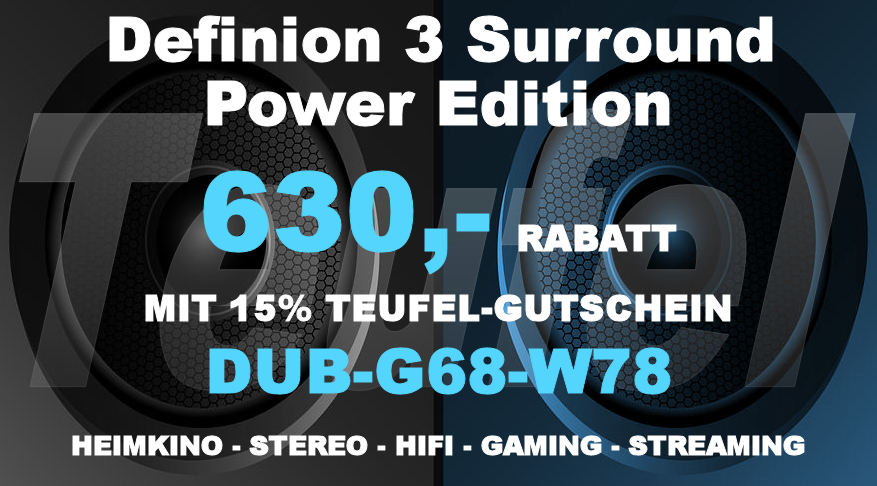 Teufel DUB-G68-W78 - Definion 3 Surround Power Edition 5.1-Set