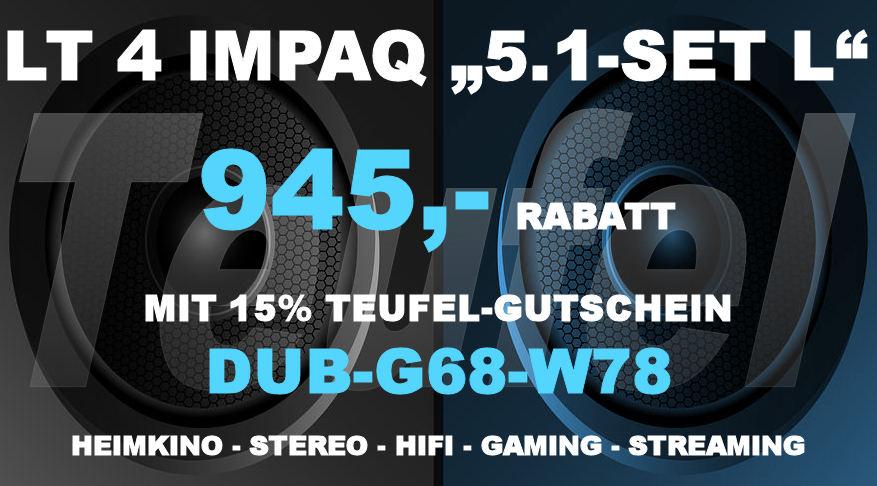 Teufel DUB-G68-W78 - LT 4 IMPAQ 5.1-SET L