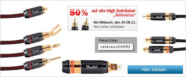 Teufel-High End-Kabel jetzt zum halben Preis