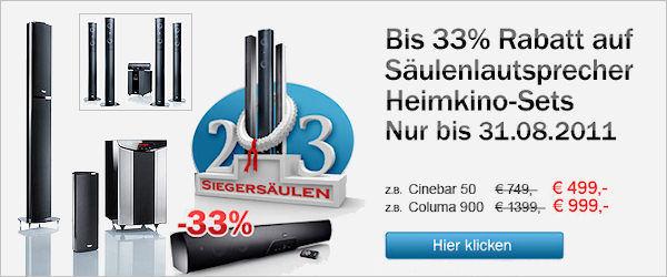 Aktion: Säulen-Lautsprecher-Set minus 33%
