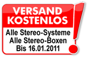 Stereo-Boxen und Stereo-Systeme Versand kostenlos
