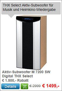 Aktiv-Subwoofer M 7200 SW Digital THX Select