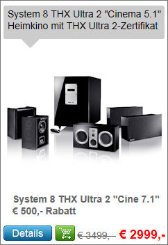 System 8 THX Ultra 2 5.1-Set Cinema
